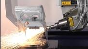 Лазерно изрязване на метален детайл