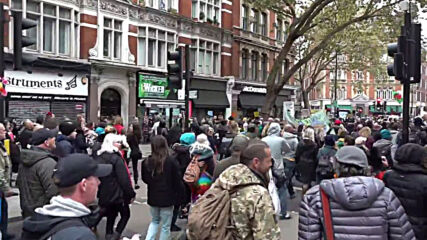 UK: Thousands rally against COVID-19 restrictions in London