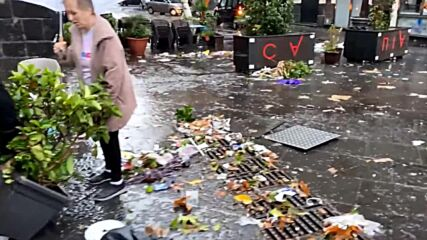 Italy: Debris fills Catania's streets in aftermath of devastating floods