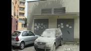 Бетонираха кола в Пловдив