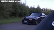 1001 Hp Bugatti Veyron vs Bmw M5 E34 Turbo 900 Hp Вижте резултата!