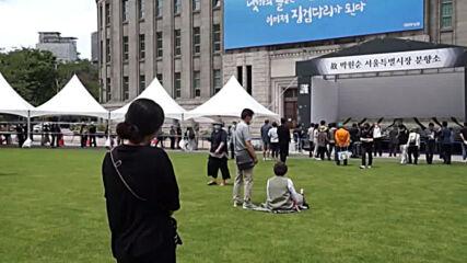 Korea: Hundreds queue to offer condolences to deceased Seoul mayor