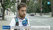 Кола помете велосипедист на пешеходна пътека във Варна, водачът избяга