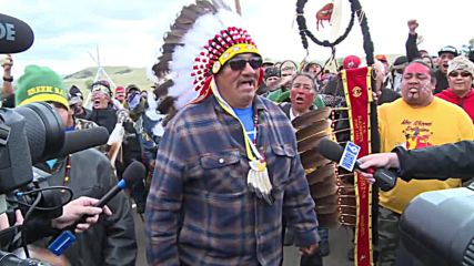 USA: Native Americans rally against Dakota pipeline