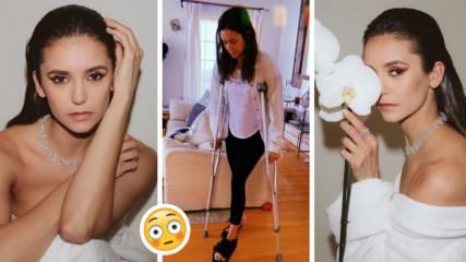 Нина Добрев изкара акъла на феновете си! Какво се случва с крака ѝ?