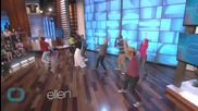 "Michelle Obama Dances With Ellen DeGeneres to ""Uptown Funk"""