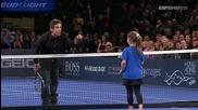 Надал и Бен Стилър срещу Дел Потро и ... едно малко момиченце - Титаничен сбъсък :)