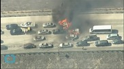 Motorists Flee As Wildfire Destroys 20 Vehicles on California Freeway