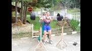 Фитнес - Клек Със 170кг Загрявка