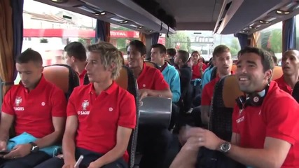 Пътуването на националният отбор на Пртугалия към стадионите в Африка