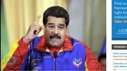 Venezuela's Maduro Calls Trump a 'Bandit' for Mexico Remarks