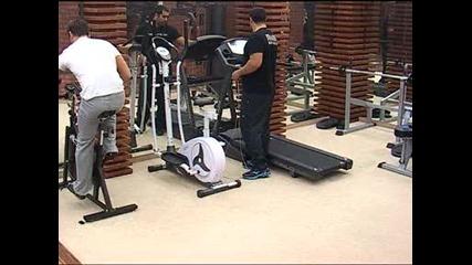 Багата и Орлин са във фитнеса - Vip Brother 07.11.2012