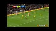 Бербатов се контузи! Манчестър Юнайтед - Кристал Палас 1:2 Бомбата на четвъртфиналите в Carling Cup