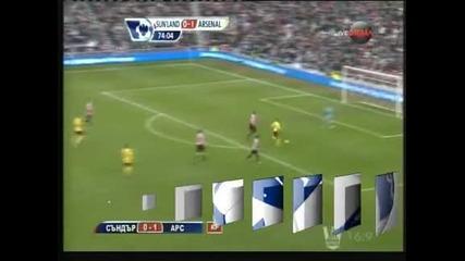"""""""Арсенал"""" измъкна трите точки след 1:0 като гост на """"Съндърланд"""""""