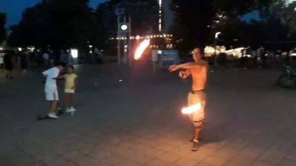 Човекът с огън от Бургас - юли 2020