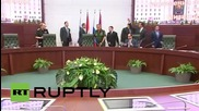 Russia: DM Shoigu gives Egypt'st el-Sisi tour of new defence control centre
