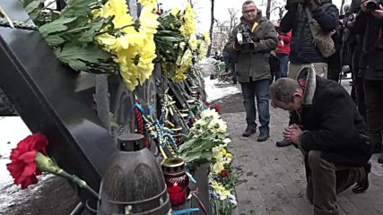 Ukraine: Memorial service held on Euromaidan fifth anniv.