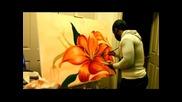 Най големия талант на сврта рисуване на цвете