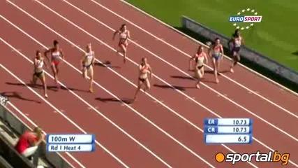 Ивет Лалова е европейска шампионка в спринта на 100 метра