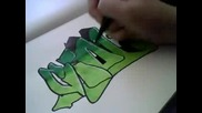 How I draw graffiti