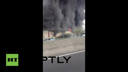 France: Huge fire breaks out at textile warehouse in Paris