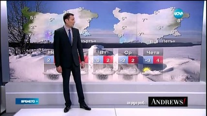 Прогноза за времето (24.01.2015 - централна)