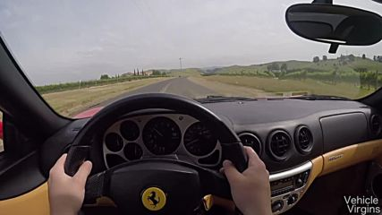 What It's Like To Drive a Gated Manual Ferrari 360 Spider!