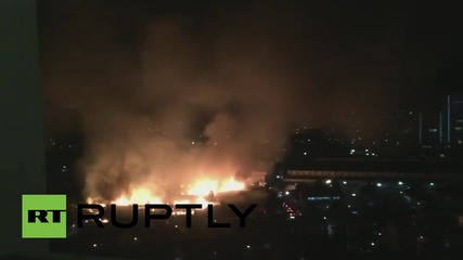 Philippines: Huge blaze sweeps through Quezon City