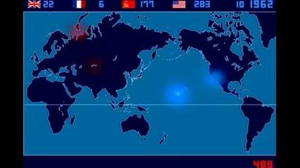 Карта на детонираните някога атомни бомби