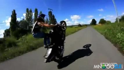 Мацка взима живота на мотор