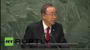 USA: Ban Ki-moon opens 70th session of UN General Assembly in NYC