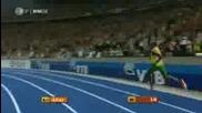 Usein Bold - бягане на 100м световен рекорд 9.58сек