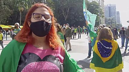 Brazil: Bolsonaro supporters rally for change of voting system in Sao Paulo