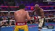 Битката на века 7: Floyd Mayweather Jr vs Manny Pacquiao round 7