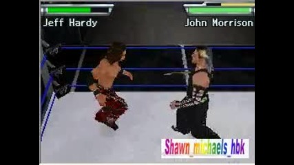 Wwe Smackdown Vs raw 2010 nds Jeff hardy vs John Morrison Extreme Rules Match