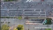 Протестите в София заснети от въздуха