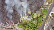 Spain: Drone footage shows lava reaching residential area in La Palma