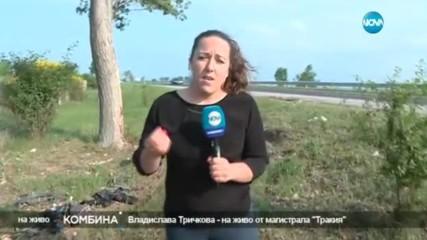 """10 нелегални мигранти загинаха на АМ """"Тракия"""""""
