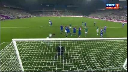 Евро 2012 :ейре 1 - 1 Хърватия ( Шон Сейнт Леджър вкарва за 1-1 във 19' минута) 10.06.2012