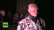 Germany: 'Night Wolves' get suprise visit from PEGIDA founder Lutz Bachmann