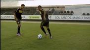 Robinho, Neymar & Ganso се забавляват !