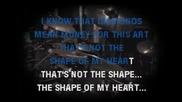Sting - Shape Of My Heart Karaoke Singback