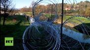 Словенската армия издига ограда по границата с Хърватия заради бежанците