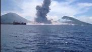 Вулкан се събужда във Папуа-нова Гвинея