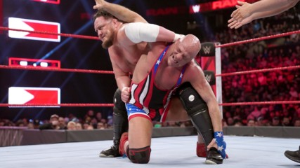 Kurt Angle vs. Samoa Joe: Raw, March 25, 2019
