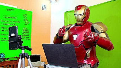 Argentina: 'Iron Man' teaches children protective measures against coronavirus