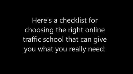 A Checklist for Choosing an Online Traffic School