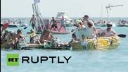 В Австралия си направиха състезание с лодки от бирени кенове