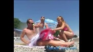 Скрита Камера • Мъж се запалва на плажа • Голям - Майтап