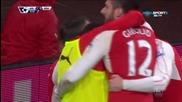 Лоран Кошчиелни даде аванс на Арсенал срещу Нюкасъл